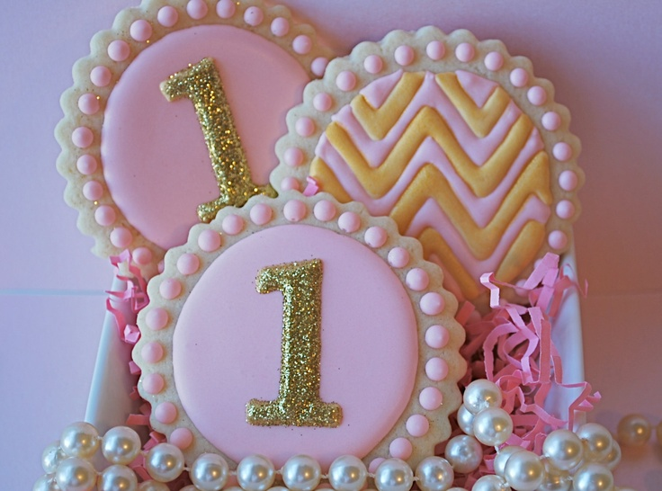 Sparkly Personalized Decorated Sugar Cookies (12). $39.00, via Etsy.