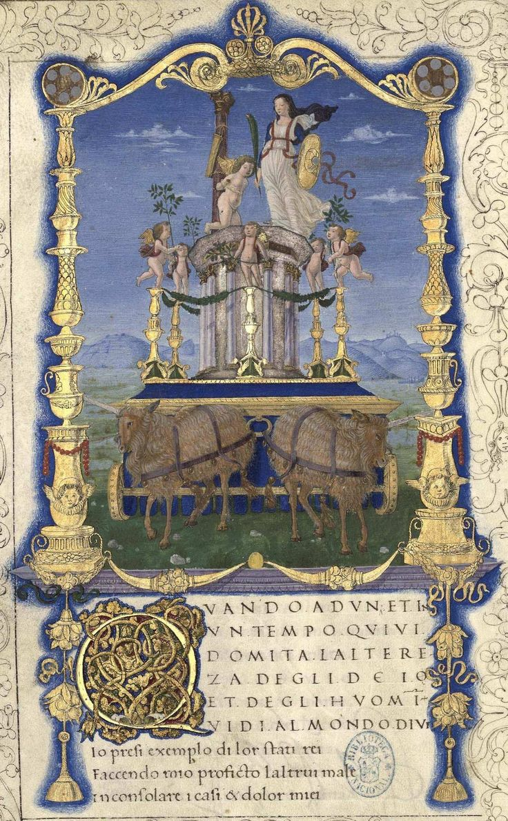 Título Obra poética  Autor Petrarca, Francesco (1304-1374) Petrarca, Francesco-1304-1374-Rime- Petrarca, Francesco-1304-1374-Triumphi- Fecha entre 1401 y 1500?     http://bdh.bne.es/bnesearch/detalle/bdh0000023186