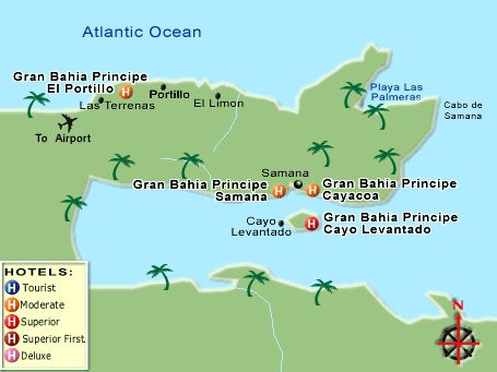 Map of Samana Dominican Republic