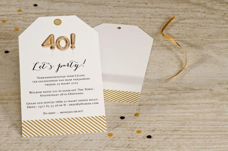 Uitnodiging 40ste verjaardag met ballon