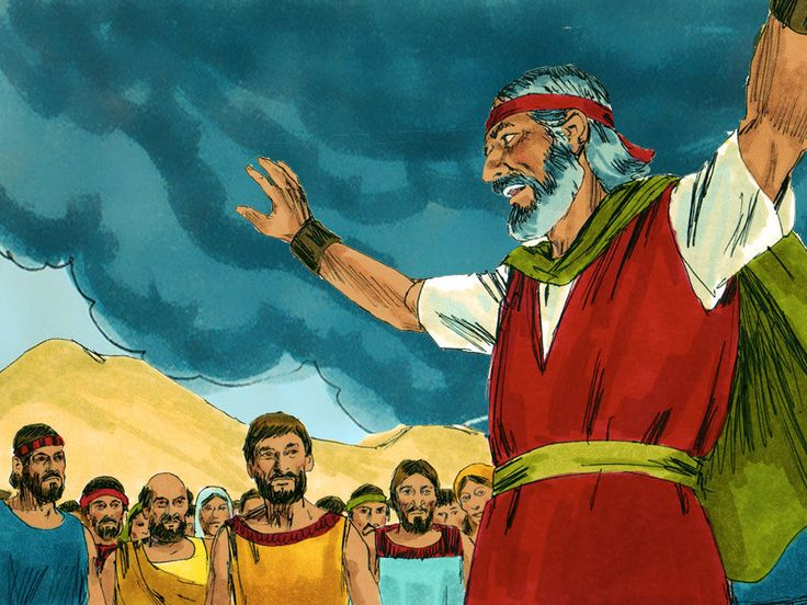 Moses called the rest of the people together. 'You have committed a great sin, but I will go up and talk with God.' – Slide 20