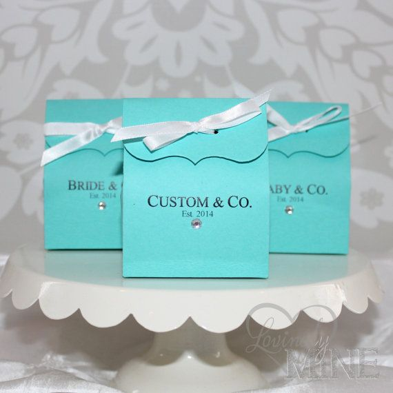 Tiffany & Co. Inspired Favor Bags  Custom Printing by LovinglyMine, $12.00