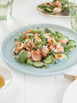 Jess Daniell's Grilled Salmon, Mint Lychee Salad - Jess Daniell - Random House Books New Zealand