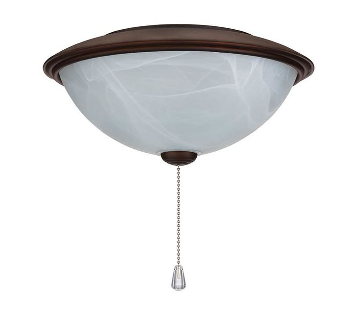 NuTone LK30ARB Contemporary Bowl Light Kit Alabaster Glass Oil Rubbed Bronze Ceiling Fan Accessories Light Kit Ceiling Fan