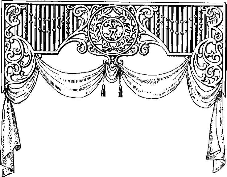 Telon,cortina,brushes,png,clipart,blanco,negro,recursos. Clipart BrushesDecoupageOrganizationsSilhouettesGifsBlack WhiteCurtainsWallpapers