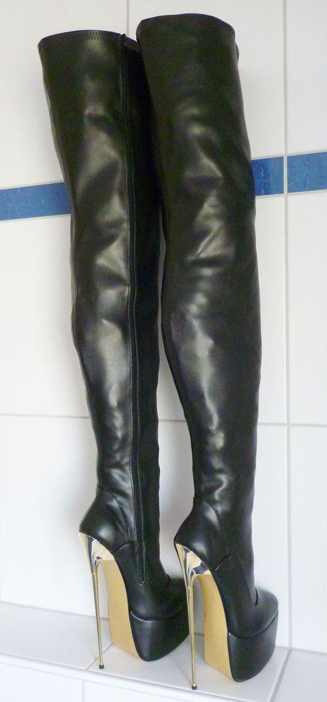 Sexy gold platform heels - 1 1
