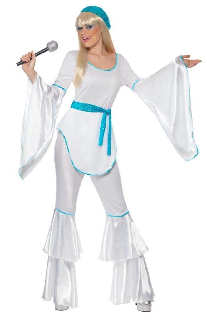 Smiffy's - 70er Jahre Abba Kostüm Disco Abbakostüm Damenkostüm Super Trooper Gr.: Amazon.de: Spielzeug