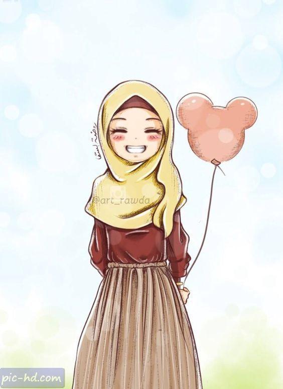 صور جميلة للبنات صور بنات كيوت محجبات للفيس بوك Anime Muslimah Anime Muslim Hijab Cartoon