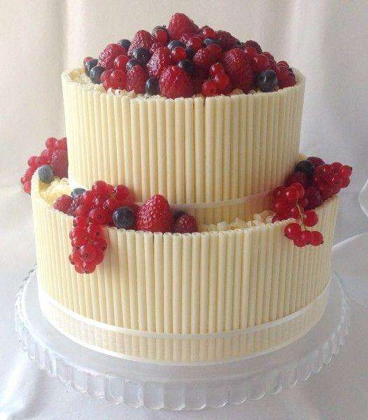 ovocný svatební dort