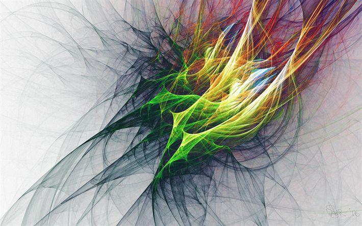 Lataa kuva 4k, art, värikäs rypäleterttuja, luova, grunge