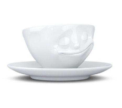 Tassen Espresso Cup, Happy, White - Kitchenique