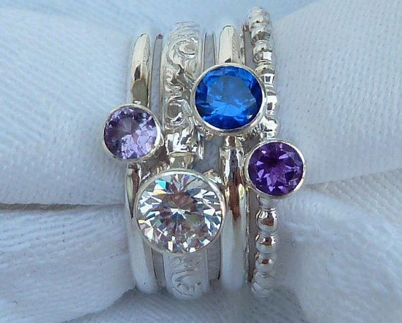 kids birthstones for mothers ring