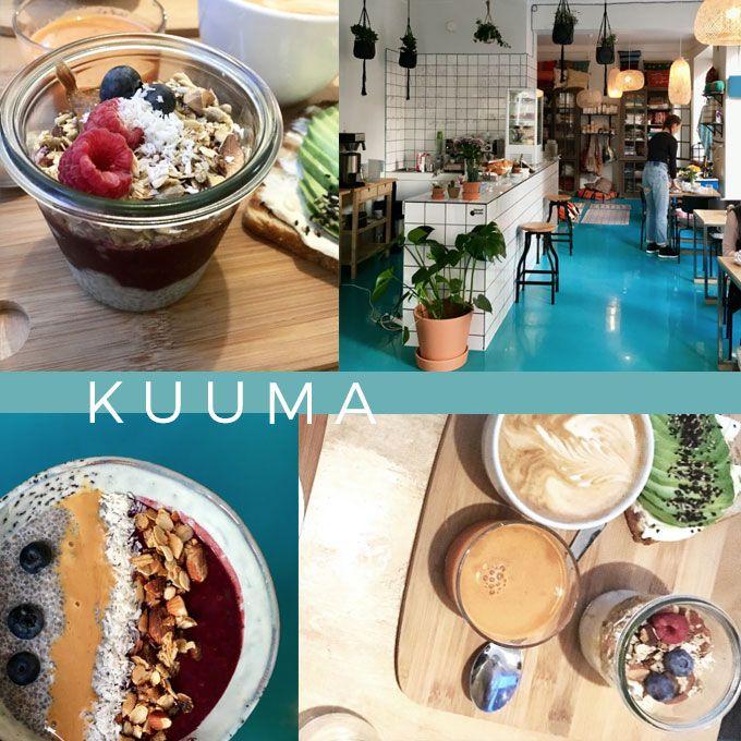 Avocado toast and smoothie bowl for a breakfast at Kuuma
