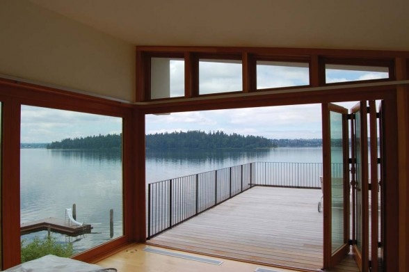 Lake House by Hutchison & Maul Architecture in Mercer Island. Photographed by Alan Abramowitz, Hutchison & Maul Architecture. This is how I'd like to live every single day of my life...