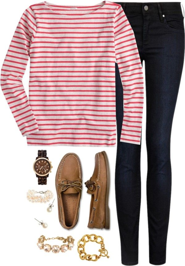 stripes and sperrys