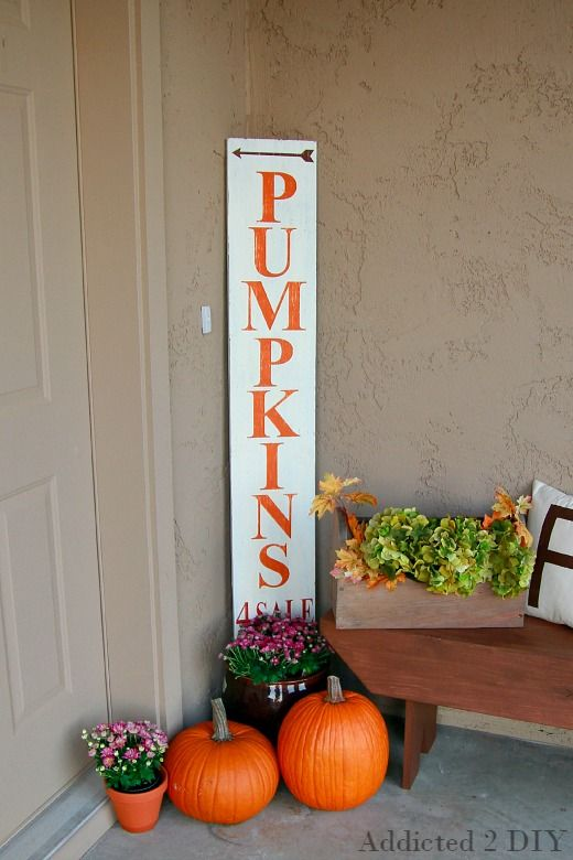 Create a simple and rustic sign for your fall porch using chalky finish paint and your Silhouette to make the Stencils