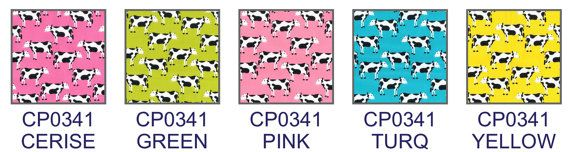 CP0341 Rose & Hubble Cotton Animals Cows Print by TheFabricShopUK