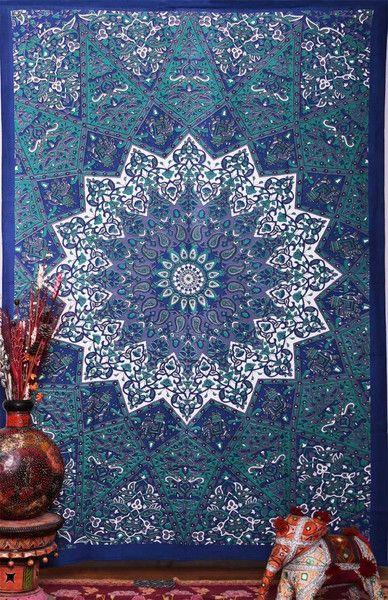 hippie tapestry pink mandala boho bohemian bedspread