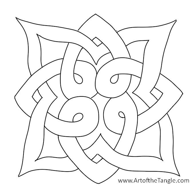 Celtic Knots for Tangling or Coloring from Art of the Tangle