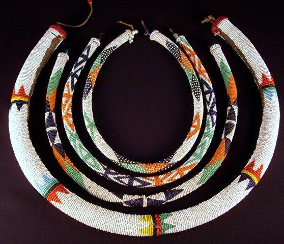 Africa | Zulu beadwork. South Africa | glass beads and fiber
