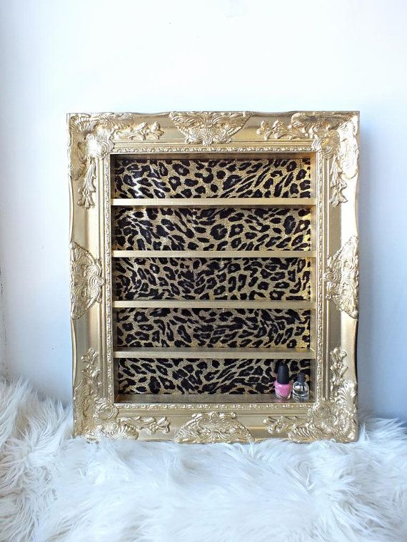 Gold Leopard Baroque Shelving Frame - dressing room style?