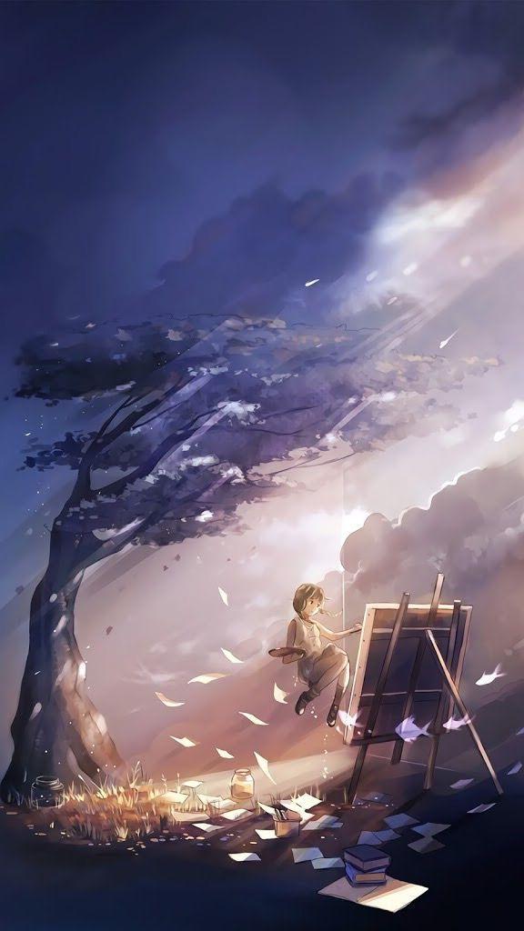 Art Art Cenario Anime Desenhos Criativos