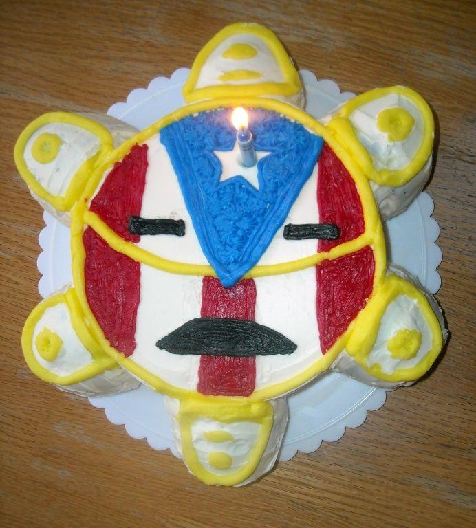 bizcocho simbolo taino y bandera de puerto rico