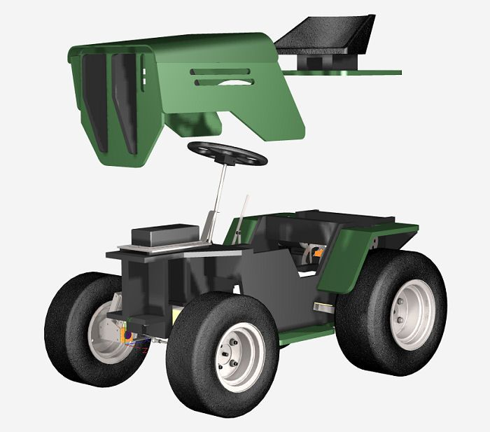 1300W Electric Yard Tractor