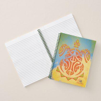 Mango and Lime Turtle Tattoo Notebook - individual customized unique ideas designs custom gift ideas
