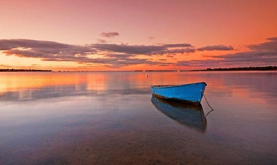 Tranquil Twilight - Victoria Point Qld Australia by Beth Wode   via redbubble.com