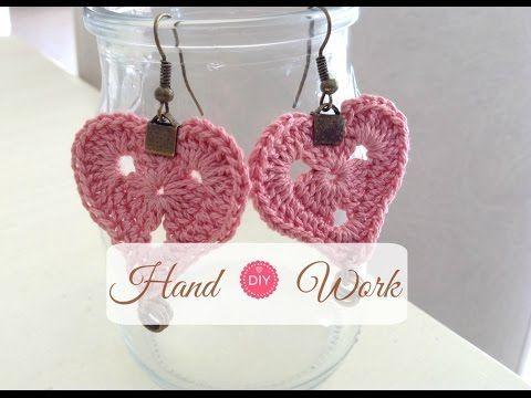 Como hacer pendientes a crochet. San Valentin, Aros tejidos a crochet., My Crafts and DIY Projects