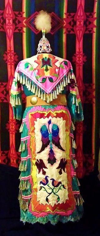 Shawnee -Native American beaded woman's jingle dress- regalia      Wow!! This is sharp! JM