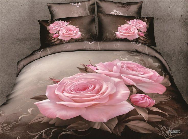 coverlet colorido 4 pcs lençois 3d conjuntos de cama de lençóis de cama jogo de cama cobrir fronha têxteis