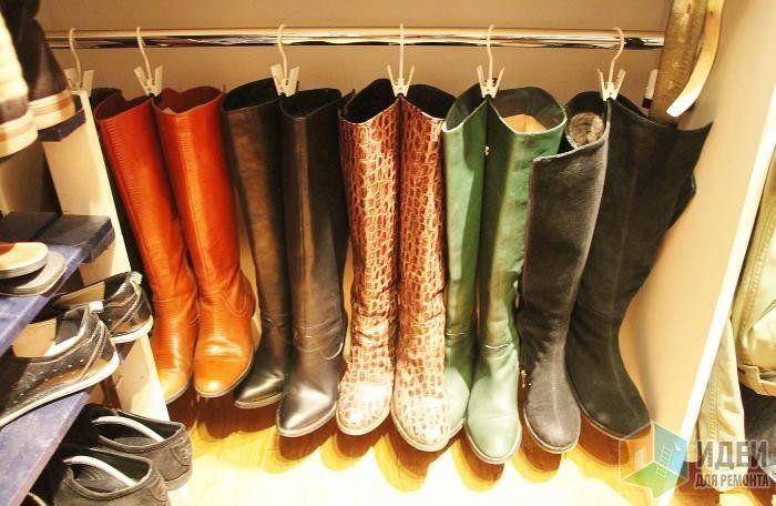 Хранение вещей в маленькой прихожей, хранение обуви