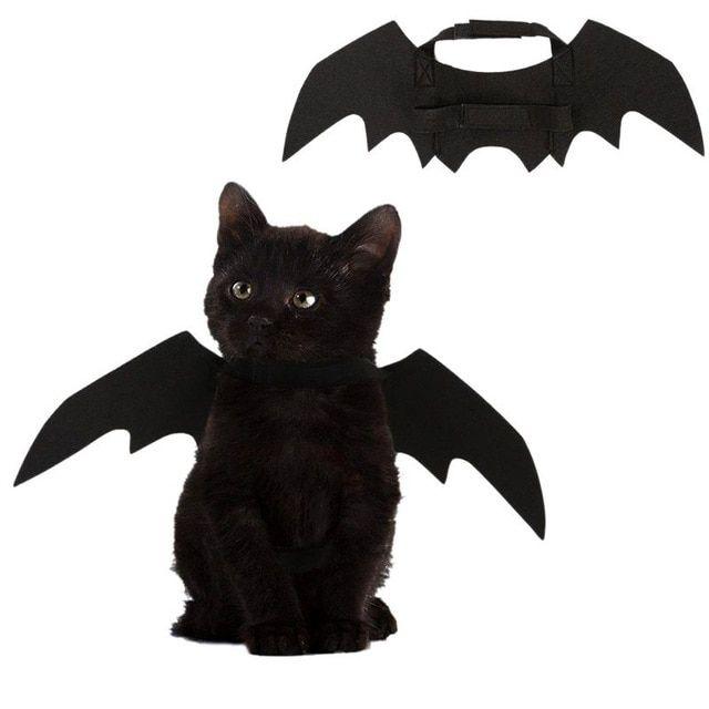 Funny Cats Cosplay Costume Halloween Pet Bat Wings Cat Bat Costume