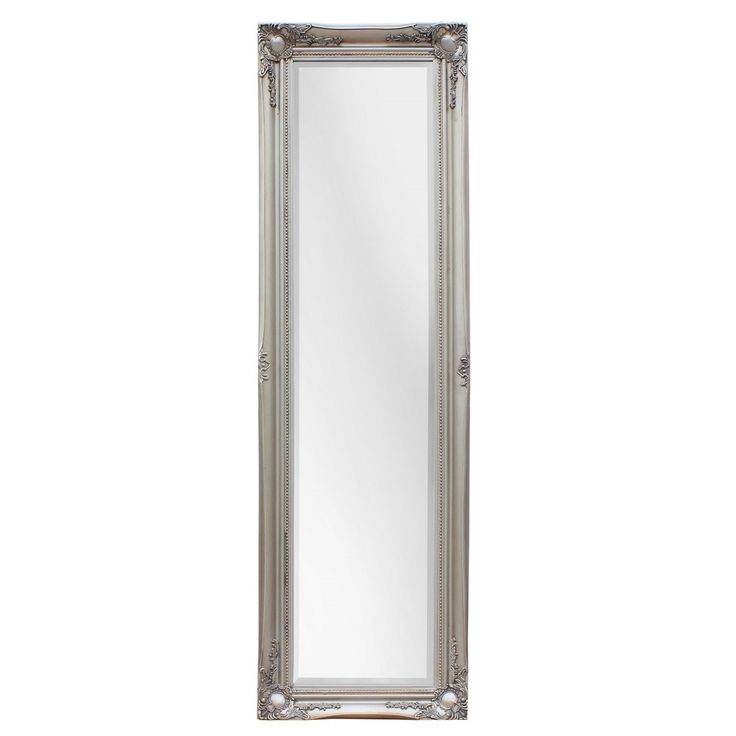 SBC Maissance Traditional Full Length Mirror with Antique Silver Wood Frame