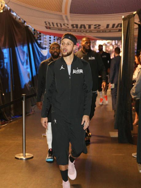 Stephen Curry of team Stephen walks into the arena during the NBA AllStar Game as a part of 2018 NBA AllStar Weekend at STAPLES Center on February 18... #NBA