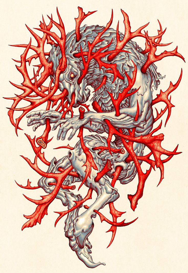ELK, illustration for Linkin Park by James Jean, 2014.