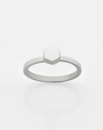 Hexagon Stacker Ring - Meadowlark