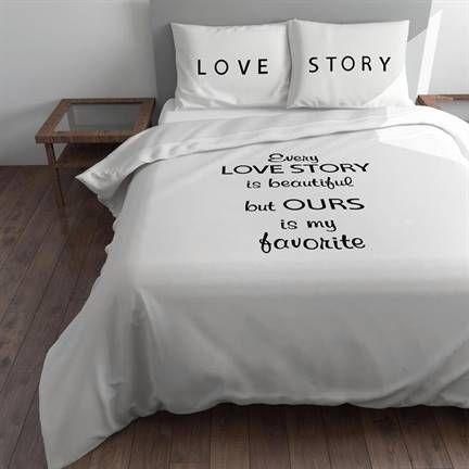 Every Love Story dekbedovertrek - romantisch dessin- Smulderstextiel.nl
