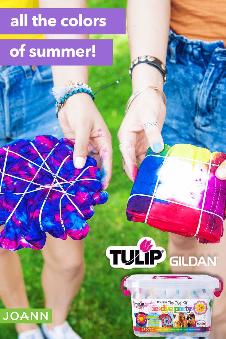 Tulip® TieDye kits & Gildan® TShirts in 2020 Tie dye