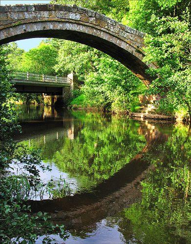 Packhorse bridge, Glaisdale, Noth Yorkshire, UK