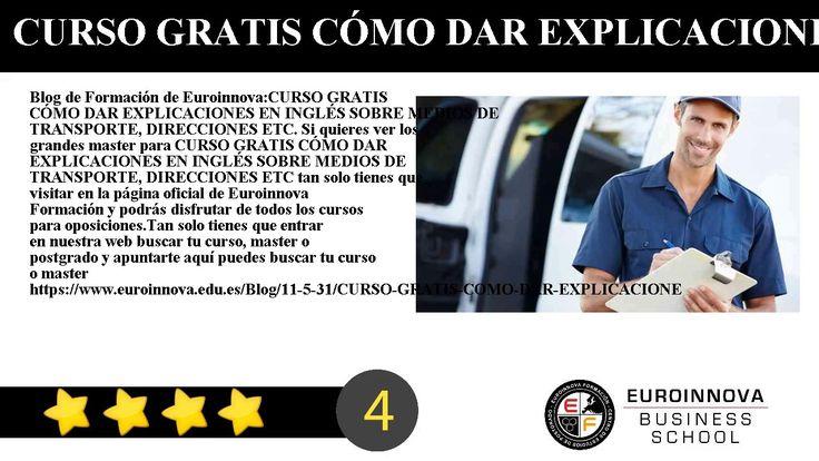 CURSO GRATIS CÓMO DAR EXPLICACIONES EN INGLÉS SOBRE MEDIOS DE TRANSPORTE DIRECCIONES ETC - Blog de Formación de Euroinnova:    CURSO GRATIS CÓMO DAR EXPLICACIONES EN INGLÉS SOBRE MEDIOS DE TRANSPORTE DIRECCIONES ETC. Si quieres ver los grandes master para CURSO GRATIS CÓMO DAR EXPLICACIONES EN INGLÉS SOBRE MEDIOS DE TRANSPORTE DIRECCIONES ETC tan solo tienes que visitar en la página oficial de Euroinnova Formación y podrás disfrutar de todos los cursos para oposiciones.    Tan solo tienes…