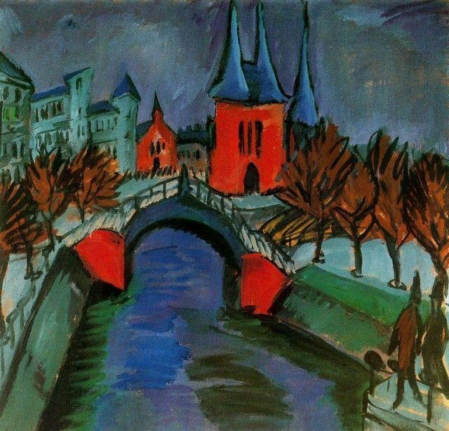 Ernst Ludwig Kirchner (188-1938) - La roja Ribera Elisabeth en Berlin