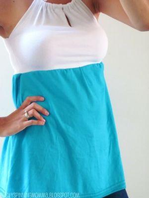 teeshirt redos | Tank top redo from two t-shirts by maura