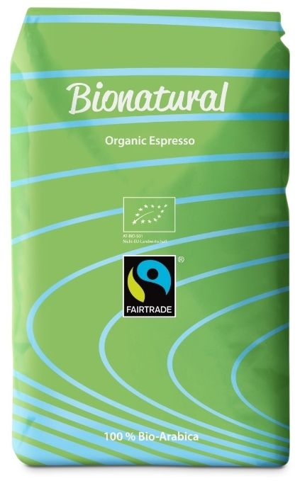 Bionatural Bio Fairtrade Kaffee-Espresso ganze Bohne by J. Hornig, 1000 g