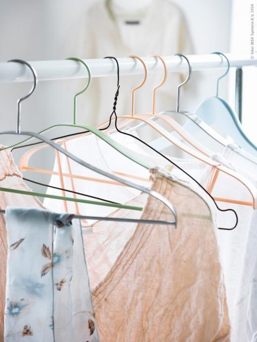 ikea by torie jayne hangers peach mint colour palette