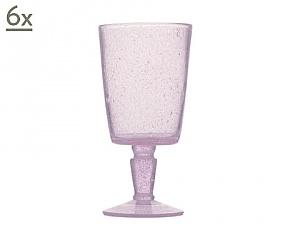 Set van 6 glazen met steel gemaakt van geblazen glas BALLY GOBLET ...