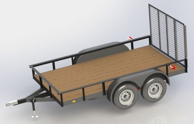 Original 1 TRAILER PLANS 7x12 Low Deck Tandem Utility Trailer