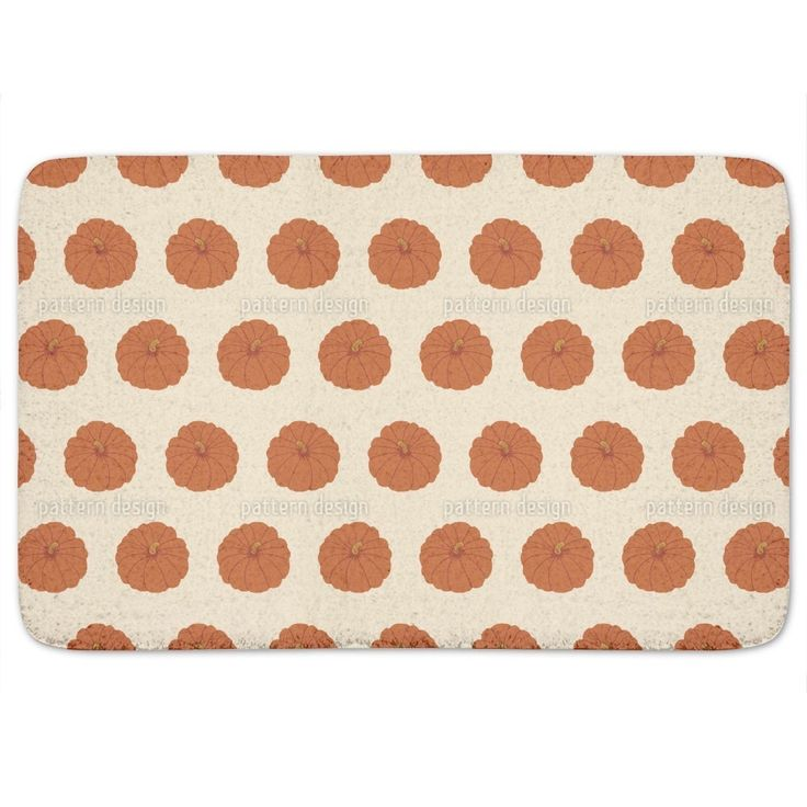 Uneekee Decorative Gourd Orange Bath Mat